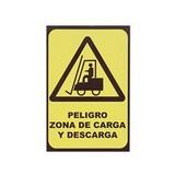 RÓTULO PELIGRO ZONA DE CARGA Y DESCARGA 20 X 30 CM