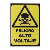 ROTULO PELIGRO ALTO VOLTAGE